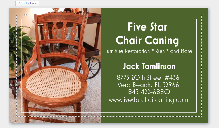 Five Star Chair Caning Information