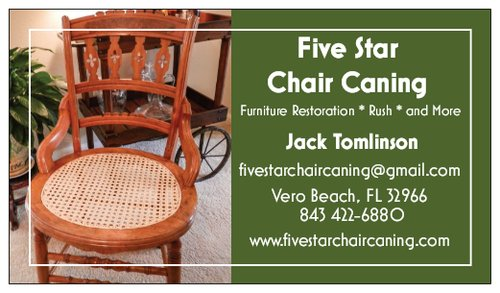 Five Star Chair Caning Business Card